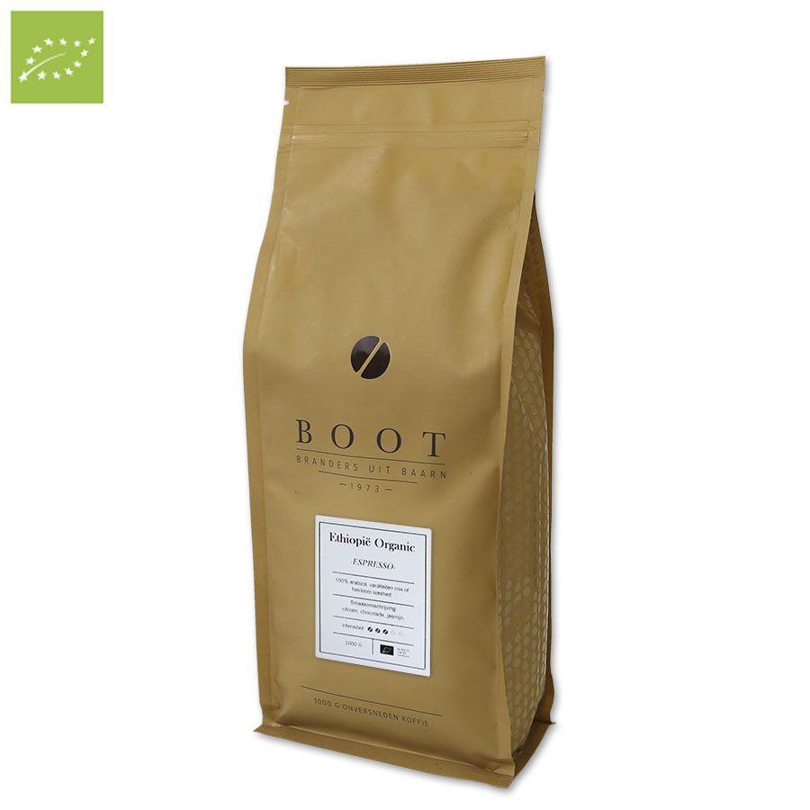 Boot Ethiopië Organic Espresso, 1000 gr.