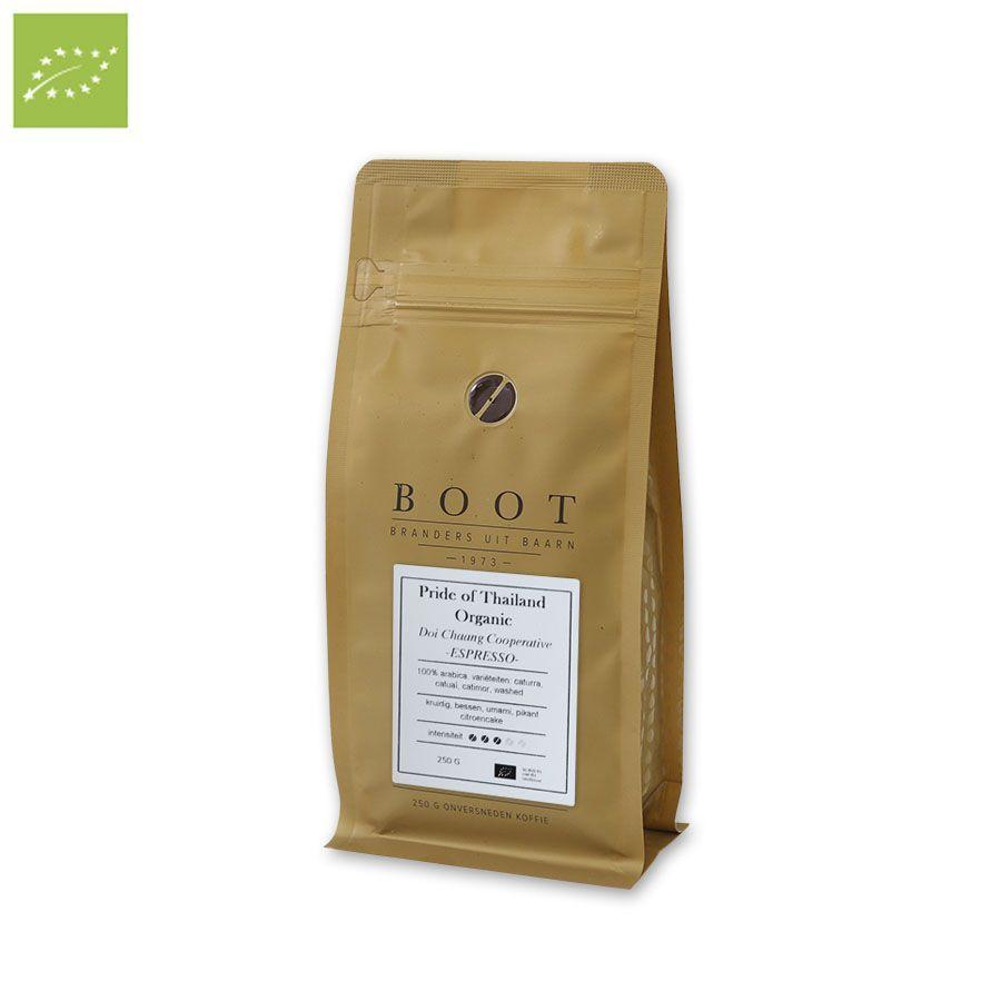 Boot Pride of Thailand Organic Espresso 250 gr