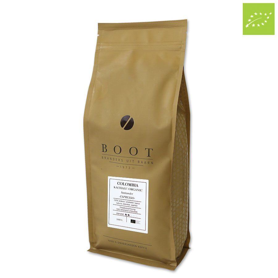 Boot Colombia Kachalu Organic EKO Espresso 1000 gr