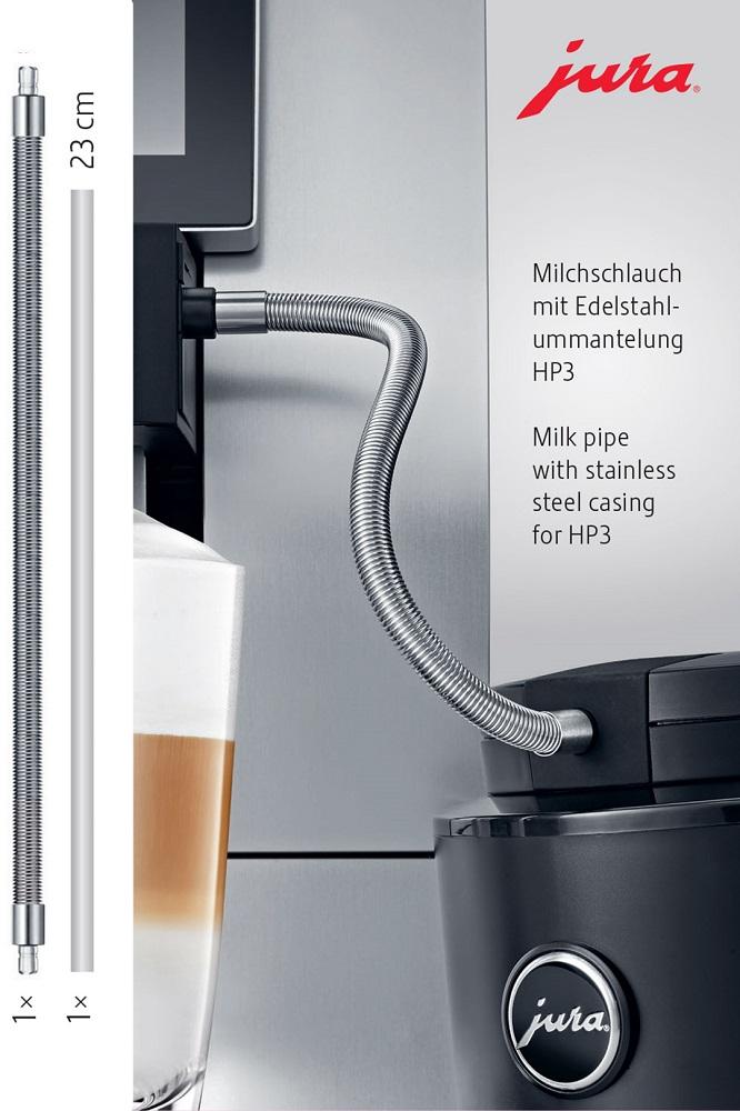 JURA Melkslang met roestvrijstalen ommanteling  HP3