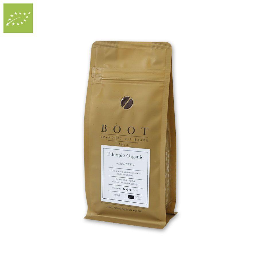 Boot Ethiopië Organic Espresso, 250 gr.