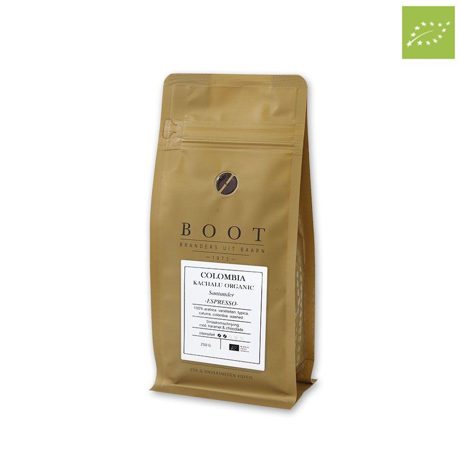 Boot Colombia Kachalu Organic Espresso 250 gr